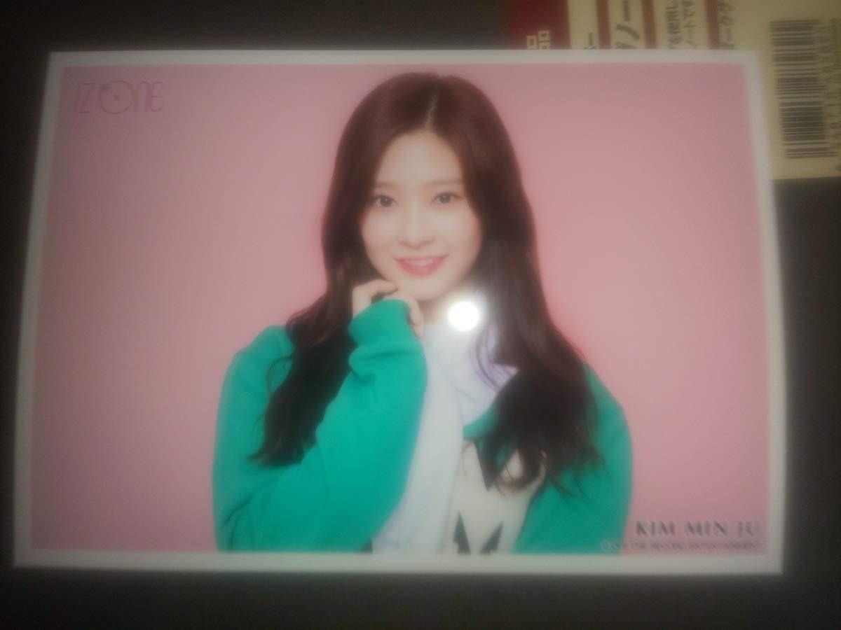 IZ*ONE キムミンジュ 日本 ショーケース生写真&韓国 デビューショーケース缶バッチ   B07Q37GPRB