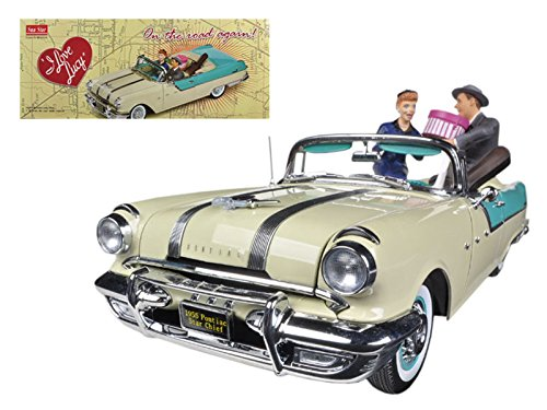 1955 Pontiac Star Chief I Love Lucy On The Road Again With Figurines 1/18 Diecast Car Model Limited Edition to 7500pcs by Sunstar 5057