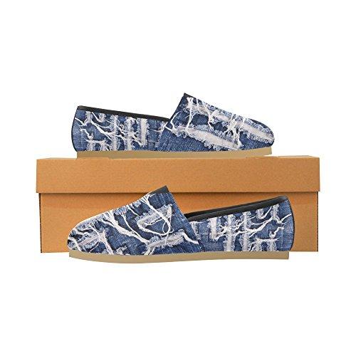 Interestprint Blomma Jeans Loafers Casual Skor För Män Kvinnor Jeans