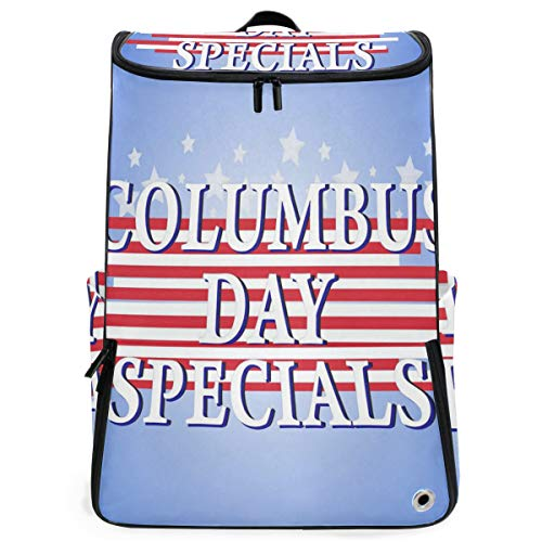 (Travel Backpack Columbus Day Theme Duffle Backpack for Women Big Vintage Daypack)