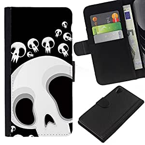 All Phone Most Case / Oferta Especial Cáscara Funda de cuero Monedero Cubierta de proteccion Caso / Wallet Case for Sony Xperia Z2 D6502 // Funny Skull Lol Face
