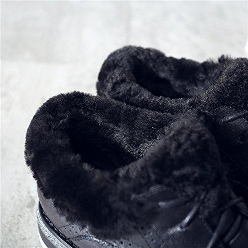 Versjonen Okse 90160cm Ull Lag Vinter Koreanske end Med Sko Første Lav Nye Av Low 2016 Svart Kvinnelige De Nsxz Madrass Okseskinn ISFTxx
