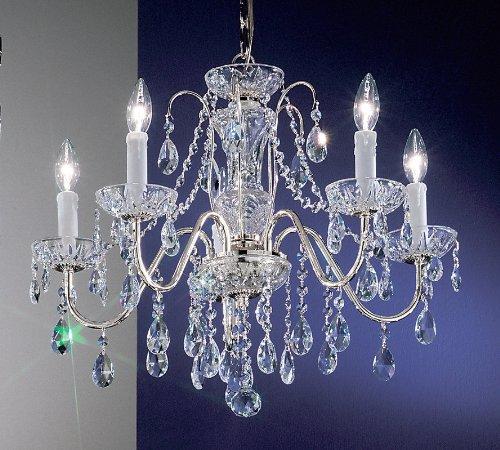 Classic Lighting 8385 CH SC Daniele, Crystal, Chandelier, Chrome ()