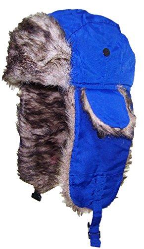 Best Winter Hats Little Kids Soft Nylon Russian/Aviator Winter Hat (One Size) - Blue