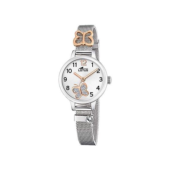 Lotus - Reloj para Niña Mariposa Caja y Armis de Acero Cierre de Hebilla 18659/2: Amazon.es: Relojes
