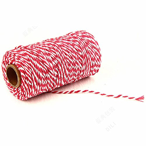 Cheap 100m/roll 2mm Pink Cotton Bakers Twine Christmas Twine Cotton Rope DIY Wedding Party Craft Gift Packaging supplier KliI65ob
