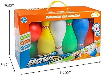 Bolos Infantiles - Juego de Bolos con 10 Bolos y 2 Bolas Colores ...
