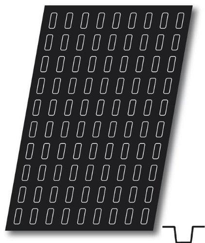 Flexipan, Mini Ingot 0.20 Oz, 40mm x 15mm x 12mm Deep (1-9/16'' x 9/16'' x 1/2'' Deep), 120 Cavities