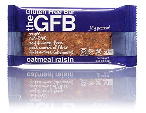 The GFB Gluten Free, Non-GMO High Protein Bars, Oatmeal Raisin, 2.05 Ounce (Pack of 12)