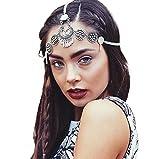Kaamastra Women's Bohemian Style Festival Headband Jewellery silver Q2YLE145
