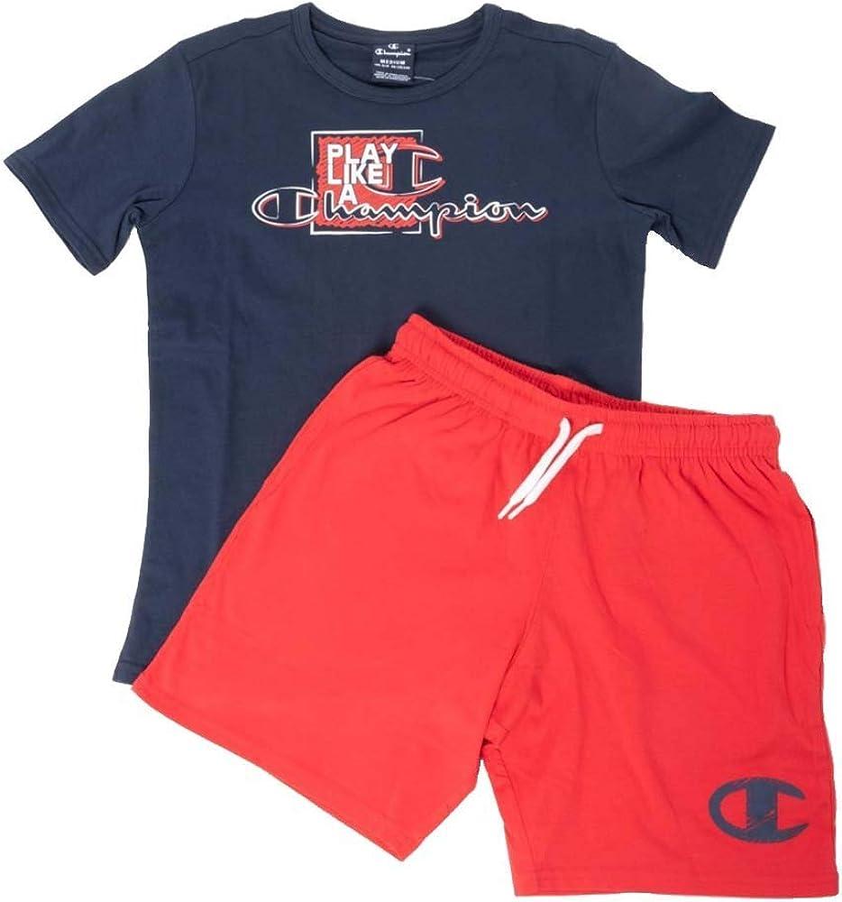 Champion Kids Clothing Set Training TShirt Shorts Sports Fashion Boy 304895Y Gym