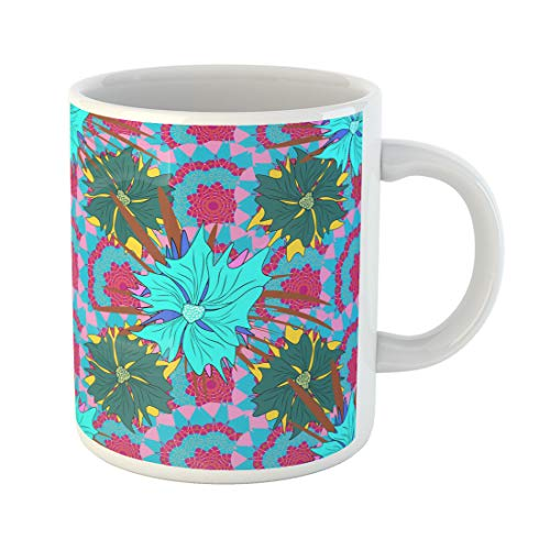 (Semtomn Funny Coffee Mug Seamless Cute Mille Fleurs Texture for Fabric Wrapping Printing Textile 11 Oz Ceramic Coffee Mugs Tea Cup Best Gift Or)