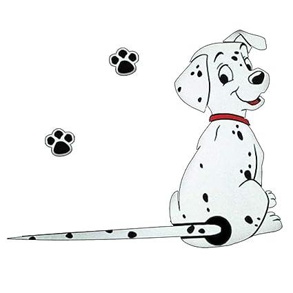 hereubuy Dibujos Animados Gracioso Perro moviendo Cola Pegatinas reflexivas Ventana del Coche calcomanías de limpiaparabrisas Car