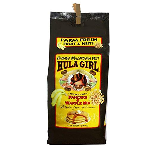 Hula Girl Banana Macadamia Nut Pancake and Waffle Mix, 595 Gram