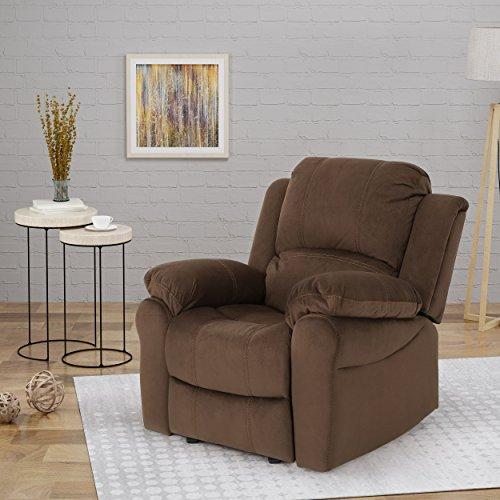 Great Deal Furniture | Edwin | Microfiber Gliding Recliner | in Chocolate