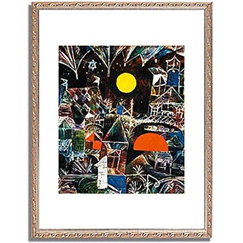 パウルクレー 「Moonrise Sunset. 1919 」 インテリア アート 絵画 壁掛け アートポスター フレーム:装飾(銀) サイズ:XL (563mm X 745mm) B00PB8QK3M 4.XL (563mm X 745mm)|5.フレーム:装飾(銀) 5.フレーム:装飾(銀) 4.XL (563mm X 745mm)