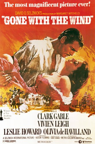Gone with the Wind  11 x 17 Movie - Poster Movie Gable