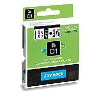 Cinta de etiquetado DYMO D1 estándar para los fabricantes de etiquetas LabelManager, impresión en negro sobre cinta blanca, 3/8 '' An x 23 'L, 1 cartucho (41913)