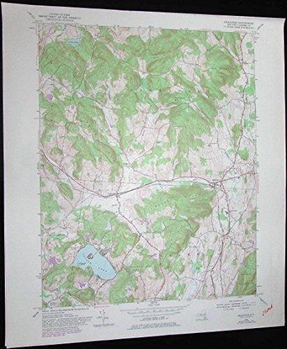 Hillsdale New York Copake Lake Lyon Mountain vintage 1981 old USGS Topo - Hillsdale Map