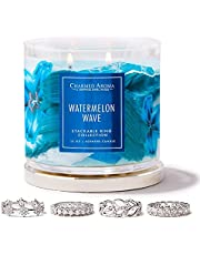Charmed Aroma 2-Wick, Jewelry Candle with Surprise Jewelry Inside