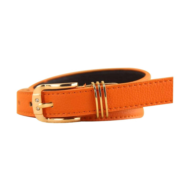 Sitong women's high quality rhinestone pin buckle PU leather belt