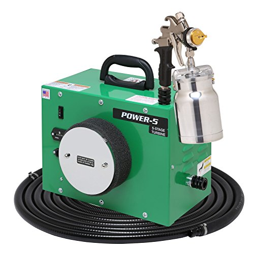 Apollo HVLP Power Series 5 Stage Turbine with A7500QT Spray Gun and 24 Foot Hose (Stage Turbine)