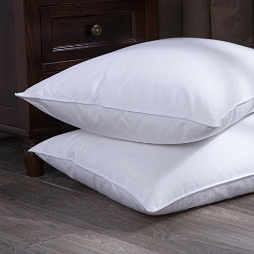 puredown white goose down and feather bed pillow white set of 2 size