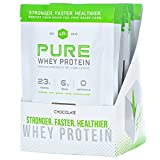 Pure Whey Protein Powder (Chocolate) by SFH | Best Tasting 100% Grass Fed Whey | All Natural | 100% Non-GMO, No Artificials, Soy Free, Gluten Free | (Chocolate, 10 Single Serve Pouches) For Sale