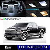 Dodge RAM 2009 & Up Xenon White Premium LED Interior Lights Package Kit (6 Pieces) + Install Tool