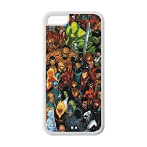 Apple iphone 5C flexible rubber Case Hot Avengers comics cartoon amazing marvel Iron Man Thor Captain America X-Men printed HD pattern unique logo protector bumper DIY Personalized portrait customized cover otter box skin back shell Trendy Hipster creative gift ultra slim thin best Quality by iStyle by runtopwell