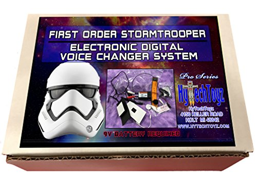 501 Star Wars Costumes (FIRST ORDER HELMET VOICE CHANGER SYSTEM - SOUND LIKE A STORMTROOPER)