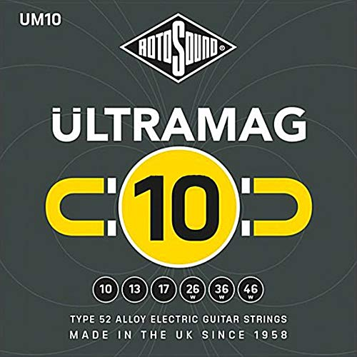 RotoSound 6 Ultramag UM10 Alloy Electric Guitar Strings, ambidextrous