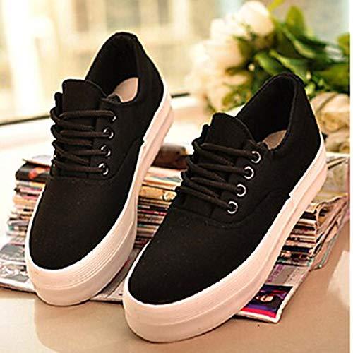 Black Nero US6 Corda Donna CN36 Autunno UK4 Polacche Sneakers EU36 Comoda Scarpe TTSHOES Per Di wgPzvq