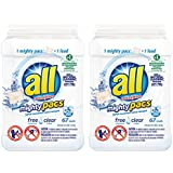 All Mighty Pacs, Free Clear, Super Concentrated Laundry Detergent Pacs, 67 Count (Tub), FFP (Pack of 2)