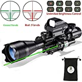 Rifle Scope Combo C4-16x50EG with Laser and 4 Holographic Red&Green Dot Sight