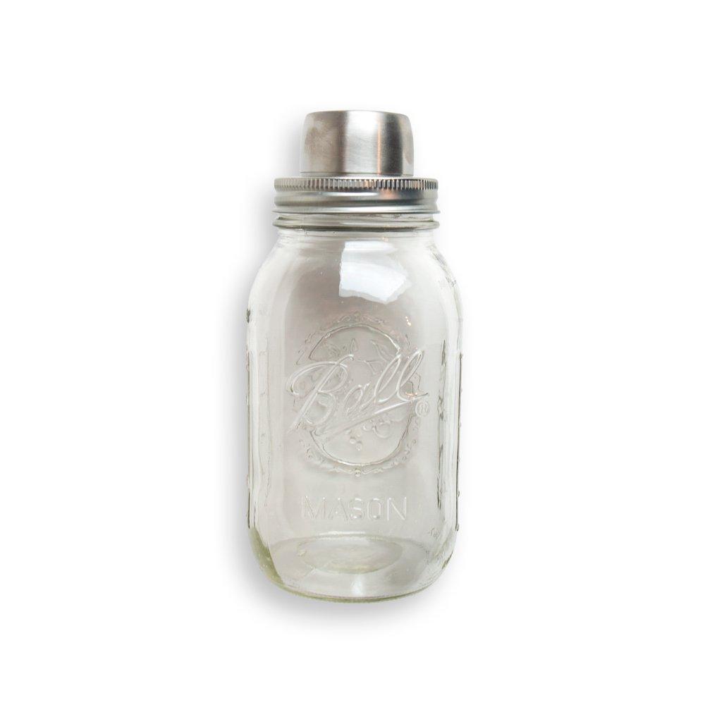 W&P MAS-SHAKER Mason Cocktail Shaker, Silver, 4 Pieces, Bar Tool, Craft Cocktail Set, Dishwasher Safe, 32 oz