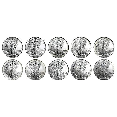 1990-1999 American Silver Eagle - 10 Coin Set with Brilliant Uncirculated