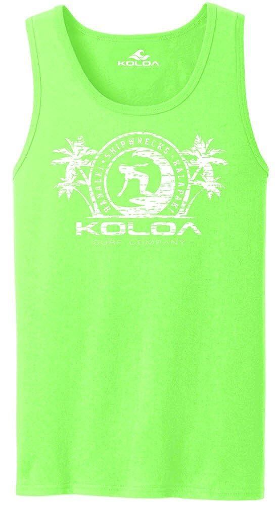 Joe's USA Koloa Surfer Girl Logo Mens Tank Tops in 27 Colors. Adult Sizes: S-4XL USALGirl08282016837