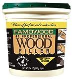 FamoWood 40022106 Latex Wood Filler - Pint, Birch