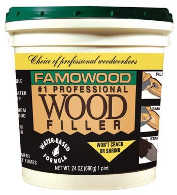 FamoWood 40022106 Latex Wood Filler - Pint, Birch by FamoWood