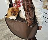 Cheap Fundle Pet Dog Cat Carrier Bag Adjustable Strap Large Brown