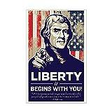 CafePress - Jefferson Liberty - Mini Poster Print