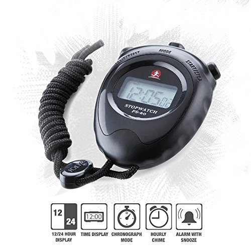Wailea Fitness Stopwatch Timer Chronometer Sportwatch with Neck Strap