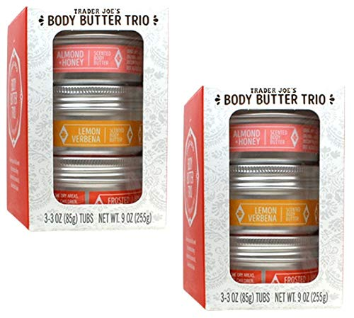 Trader Joe's - Body Butter Trio: Almond + Honey, Lemon Verbena, Frosted Berry NET WT. 9 OZ(3-3OZ Tubs) - -