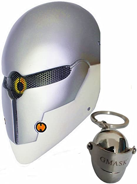 Gmasking Gray Fox Robot Airsoft Paintball Halloween Party Cosplay Mask Costume (Silver)