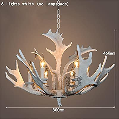 TOYM US- Parlor Bar cafe creative personality retro resin antler chandelier six Mediterranean