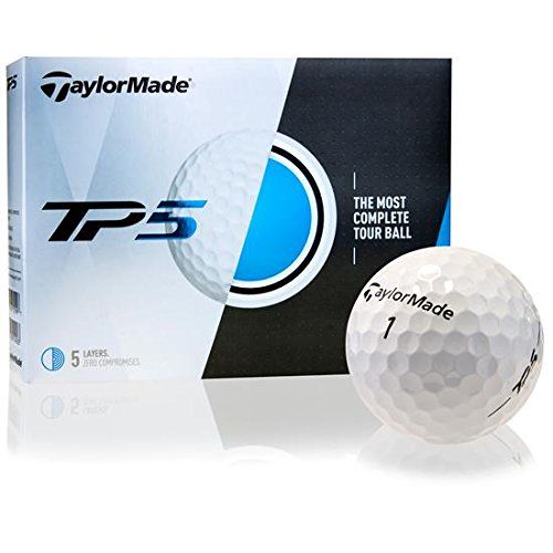 TaylorMade 2017 TP5 Golf Balls, Pack of 12 (Best Clone Golf Drivers)