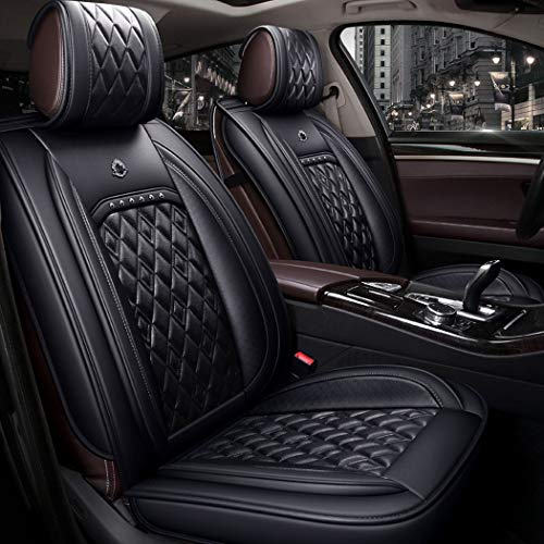 WL Easy To Clean PU Leather Car Seat Cushion 5 Seats Full Slip Non-Slip Suede Backing Universal Suitable,A: Sports & Outdoors