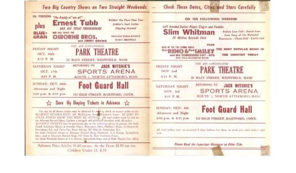 Amazon Com Ernest Tubb Slim Whitman Osborne Bros Concert Mailer New
