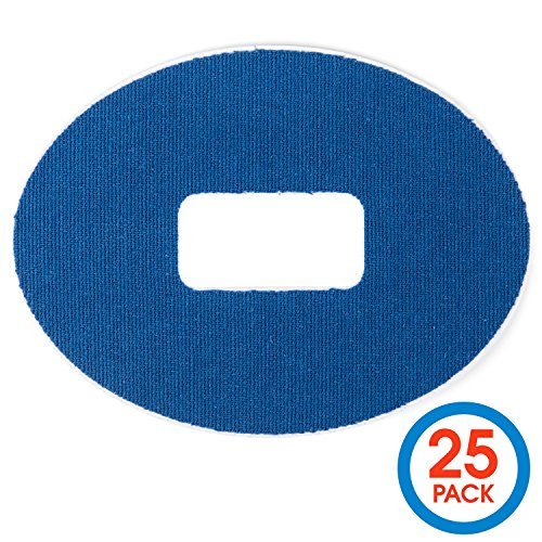 Insulin Life 25 Pack Dexcom Adhesive Patch G4 G5 Waterproof Patches - Blue